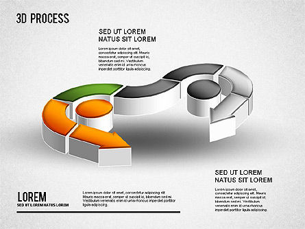 3D Process Diagram, Slide 10, 01275, Process Diagrams — PoweredTemplate.com