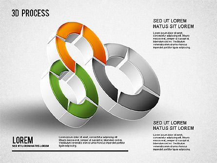 3D Process Diagram, Slide 3, 01275, Process Diagrams — PoweredTemplate.com