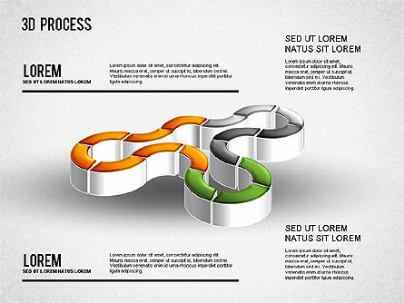 3D Process Diagram, Slide 4, 01275, Process Diagrams — PoweredTemplate.com