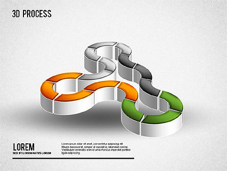 3D Process Diagram, Slide 5, 01275, Process Diagrams — PoweredTemplate.com