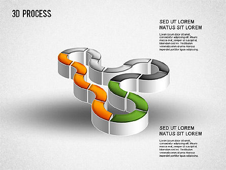 3D Process Diagram, Slide 6, 01275, Process Diagrams — PoweredTemplate.com