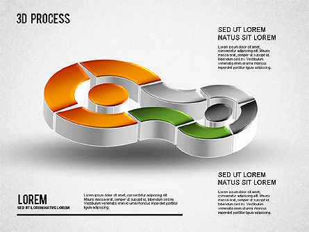 3D Process Diagram, Slide 7, 01275, Process Diagrams — PoweredTemplate.com