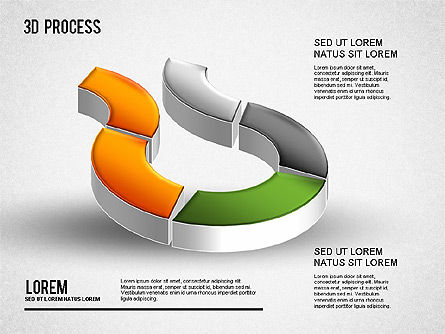 3D Process Diagram, Slide 8, 01275, Process Diagrams — PoweredTemplate.com