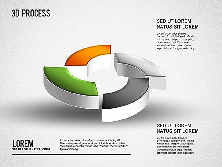 3D Process Diagram, Slide 9, 01275, Process Diagrams — PoweredTemplate.com