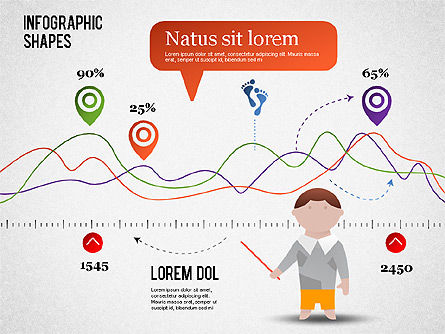 Infographics Shapes and Charts, 01279, Presentation Templates — PoweredTemplate.com