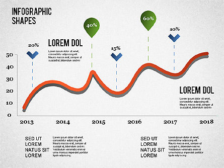 Infographics Shapes and Charts, Slide 2, 01279, Presentation Templates — PoweredTemplate.com