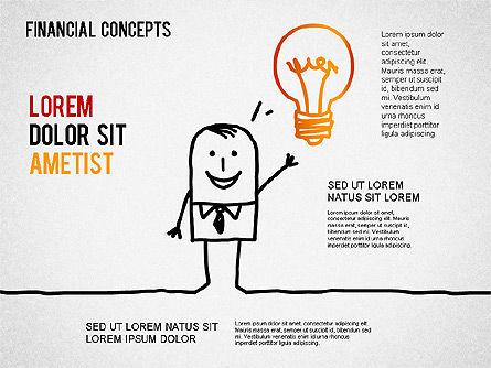 Report Concept Diagram, Slide 4, 01281, Business Models — PoweredTemplate.com