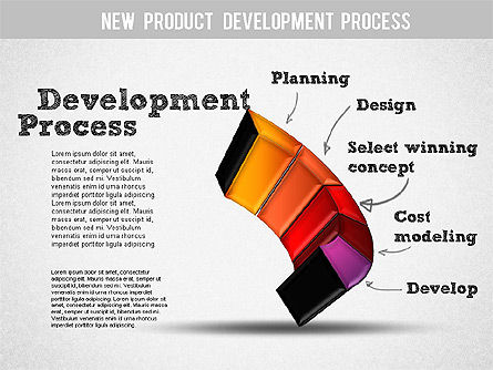 Development Stages Diagram, Slide 6, 01284, Stage Diagrams — PoweredTemplate.com