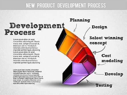 Development Stages Diagram, Slide 7, 01284, Stage Diagrams — PoweredTemplate.com