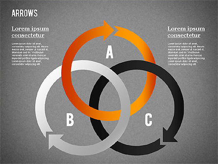 Arrows and Curves, Slide 13, 01286, Shapes — PoweredTemplate.com