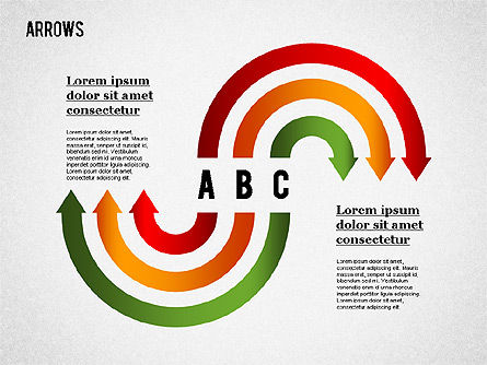 Arrows and Curves, Slide 7, 01286, Shapes — PoweredTemplate.com