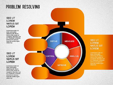 Problem Resolving Chart, Slide 13, 01287, Stage Diagrams — PoweredTemplate.com