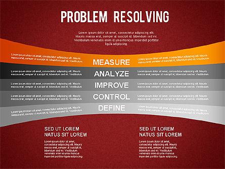 Problem Resolving Chart, Slide 15, 01287, Stage Diagrams — PoweredTemplate.com
