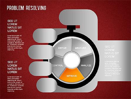 Problem Resolving Chart, Slide 16, 01287, Stage Diagrams — PoweredTemplate.com