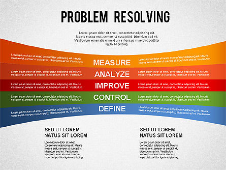 Problem Resolving Chart, Slide 2, 01287, Stage Diagrams — PoweredTemplate.com