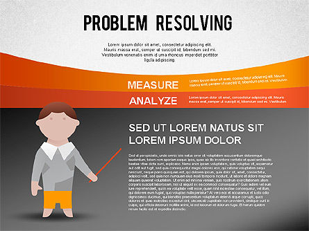 Problem Resolving Chart, Slide 4, 01287, Stage Diagrams — PoweredTemplate.com
