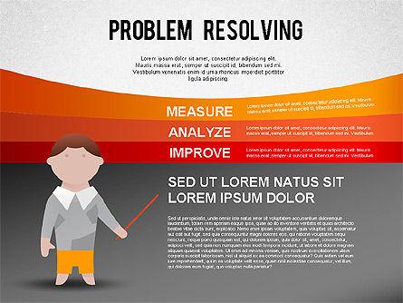 Problem Resolving Chart, Slide 5, 01287, Stage Diagrams — PoweredTemplate.com