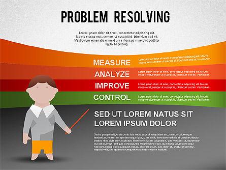 Problem Resolving Chart, Slide 6, 01287, Stage Diagrams — PoweredTemplate.com