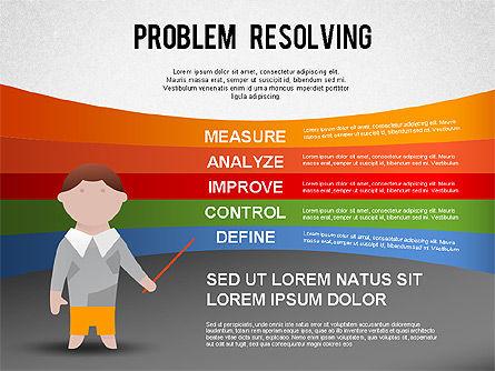 Problem Resolving Chart, Slide 7, 01287, Stage Diagrams — PoweredTemplate.com