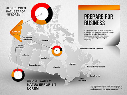 Canada Presentation Diagram , Slide 3, 01290, Presentation Templates — PoweredTemplate.com