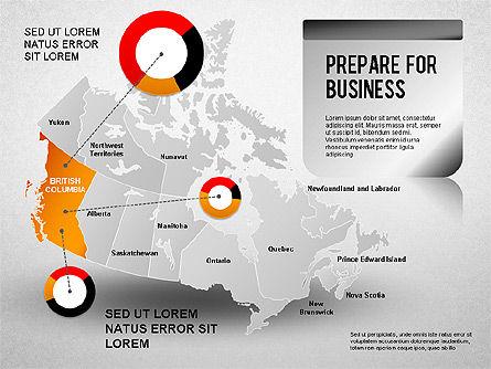 Canada Presentation Diagram , Slide 4, 01290, Presentation Templates — PoweredTemplate.com