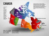 Presentation Templates: Diagrama de presentación de Canadá #01290