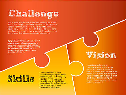 Challenge and Outcomes Diagram, Slide 12, 01291, Business Models — PoweredTemplate.com