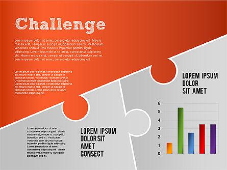 Challenge and Outcomes Diagram, Slide 13, 01291, Business Models — PoweredTemplate.com