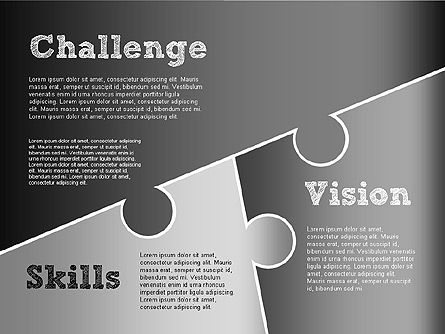 Challenge and Outcomes Diagram, Slide 16, 01291, Business Models — PoweredTemplate.com