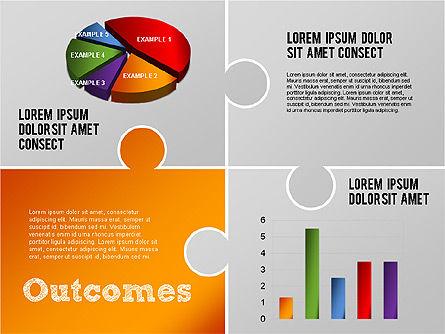 Challenge and Outcomes Diagram, Slide 5, 01291, Business Models — PoweredTemplate.com