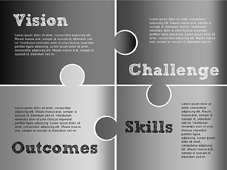 Challenge and Outcomes Diagram, Slide 6, 01291, Business Models — PoweredTemplate.com