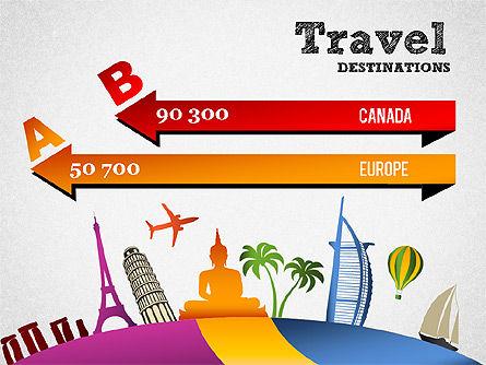 Travel Destinations Diagram, Slide 4, 01294, Business Models — PoweredTemplate.com