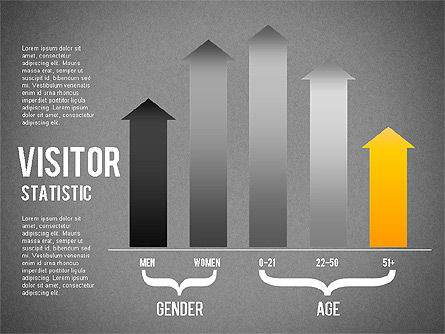 Visitor Statistics and Graphs, Slide 12, 01297, Business Models — PoweredTemplate.com