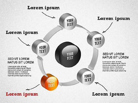 3D Circular Process Diagram, Slide 11, 01300, Process Diagrams — PoweredTemplate.com