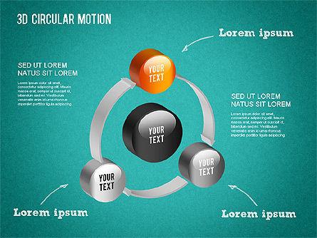 3D Circular Process Diagram, Slide 13, 01300, Process Diagrams — PoweredTemplate.com