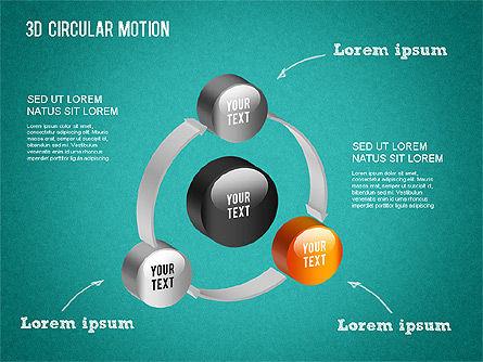 3D Circular Process Diagram, Slide 14, 01300, Process Diagrams — PoweredTemplate.com