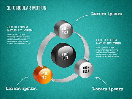 3D Circular Process Diagram, Slide 15, 01300, Process Diagrams — PoweredTemplate.com