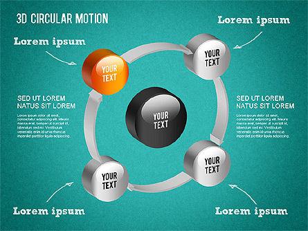 3D Circular Process Diagram, Slide 16, 01300, Process Diagrams — PoweredTemplate.com