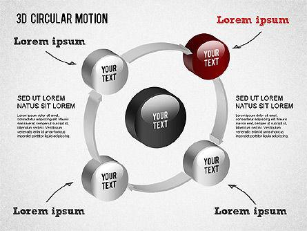3D Circular Process Diagram, Slide 5, 01300, Process Diagrams — PoweredTemplate.com