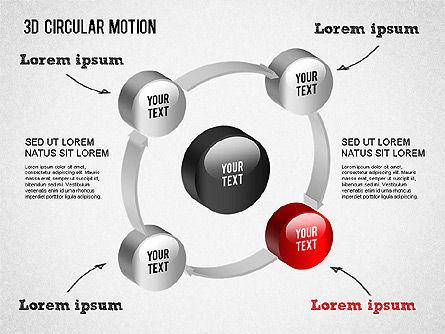 3D Circular Process Diagram, Slide 6, 01300, Process Diagrams — PoweredTemplate.com