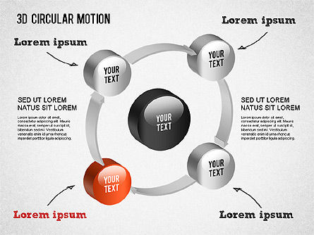 3D Circular Process Diagram, Slide 7, 01300, Process Diagrams — PoweredTemplate.com