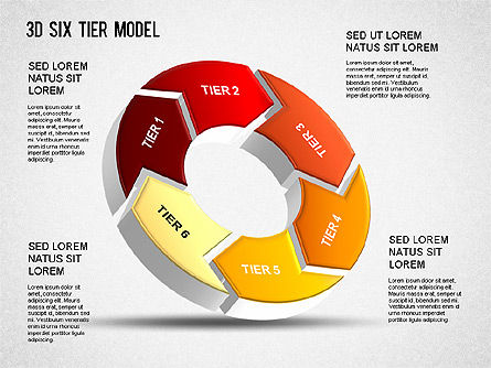 Business Models: 3D Modelo de seis niveles #01302