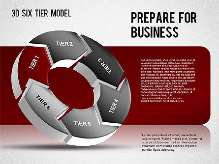 3D Six Tier Model, Slide 2, 01302, Business Models — PoweredTemplate.com