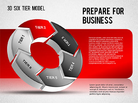 3D Six Tier Model, Slide 4, 01302, Business Models — PoweredTemplate.com