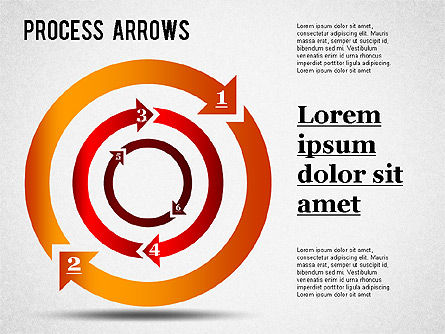 Process Arrows Collection, 01303, Shapes — PoweredTemplate.com