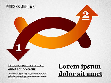Process Arrows Collection, Slide 3, 01303, Shapes — PoweredTemplate.com