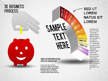3D Business Stages Diagram, Slide 11, 01305, Business Models — PoweredTemplate.com