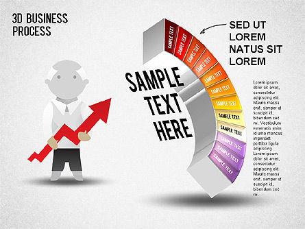 3D Business Stages Diagram, Slide 13, 01305, Business Models — PoweredTemplate.com