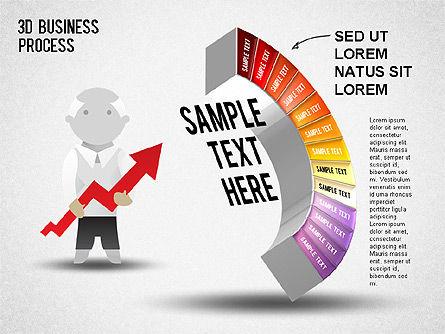 3D Business Stages Diagram, Slide 14, 01305, Business Models — PoweredTemplate.com