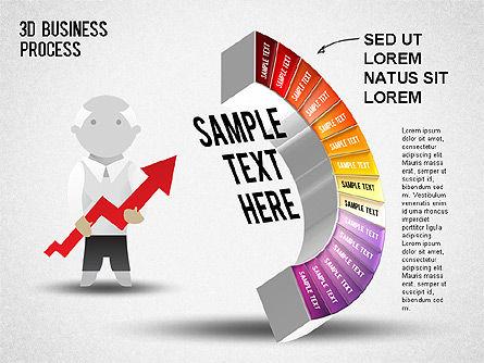 3D Business Stages Diagram, Slide 16, 01305, Business Models — PoweredTemplate.com